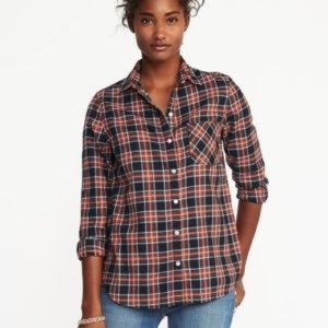Like New Old Navy Plaid Flannel Classic Shirt